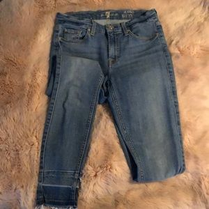 """7 for all mankind """"the skinny ankle"""" jean"""